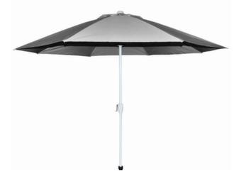 Parasol droit alu/fibre de verre Ø 300 cm
