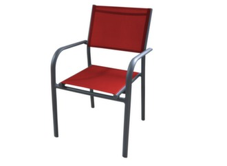 Fauteuil Duca empilable grey/rouge