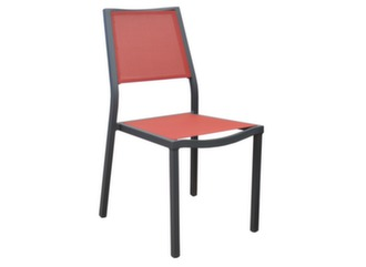 Chaise Florence empilable grey/rouge