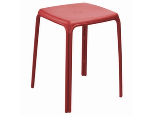 Tabouret Azuro empilable rouge