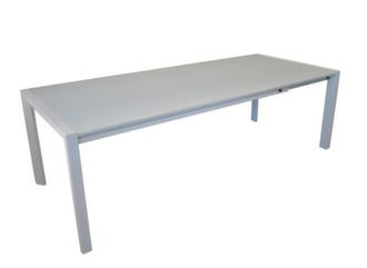 Table Milo 178/238 cm, plateau verre