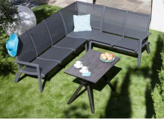 Salon d'angle Loane (2 méridiennes + fauteuil d'angle)