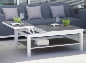 Table Basse BELLE ILE TRESPA Blanc / Brun