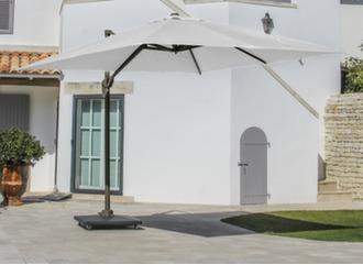 Parasol déporté Elios 3 x 3 m, mât café