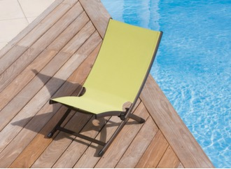 Ensemble relax pliant Summer + table basse