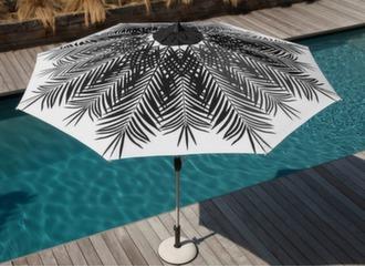 Parasol droit Ø 300 cm Palmier