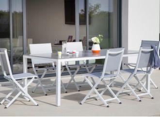 Table Création 200 x 100 cm + 6 chaises