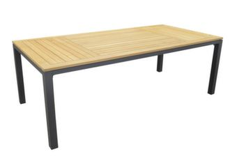 Table Tempo 210 cm, Plateau teck