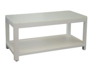 Table basse Zébra 120 x 60 cm, plateau verre