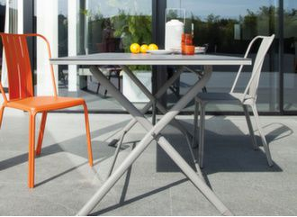 Table Azuro HPL Arpa 70 x 70 cm + 2 chaises