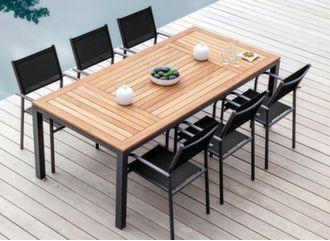 Table Tempo 210 cm + 6 fauteuils Duca