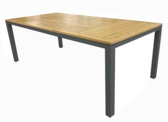 Table Tempo 180 cm, Plateau teck