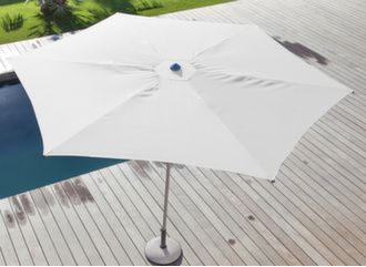 Parasol droit Easy Up Ø 330 cm plat