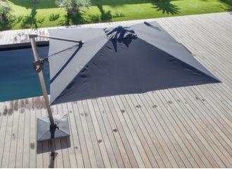 Parasol déporté 3 x 3 m Elios orientable