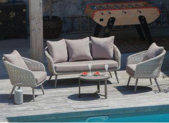 Ensemble détente Augusta (2 fauteuils + canapé)