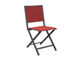 Chaise Ida grey rouge