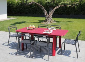Table Eos 130/180 cm + 6 chaises Eos