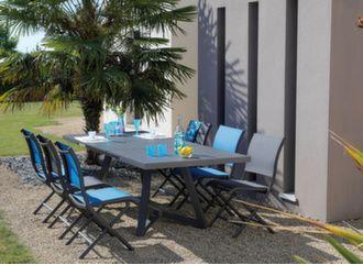 Table Agira 180/240 cm + 6 chaises Elégance