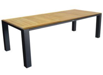 Table Torino 240 cm, plateau Teck