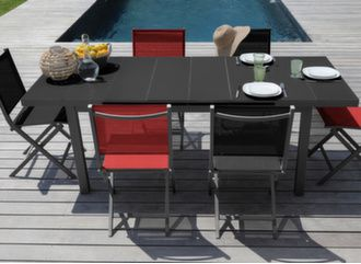 Table Ondine 160/213 cm + 6 chaises Thema