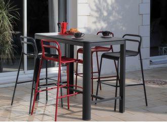 Table Haute Eos 140 cm + 4 chaises hautes Eos