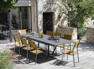 Table Vita 180/230/280 cm + 6 fauteuils Duca
