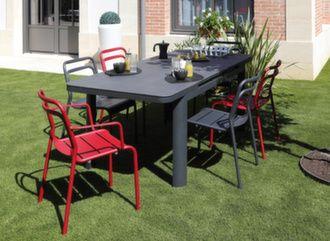 Table Eos Trespa® 220/290 cm + 6 chaises Eos