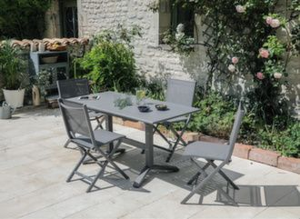 Table Sotta 110/150 cm + 4 chaises Ida