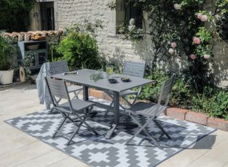 Table Sotta 110/150 cm + 4 chaises Lucca