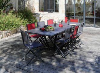 Table Vita 180/230/280 cm + 6 chaises Ida