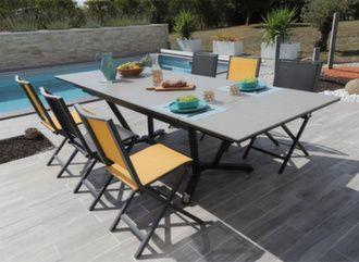 Table Vita Kedra® 180/230/280 cm + 6 chaises Ida