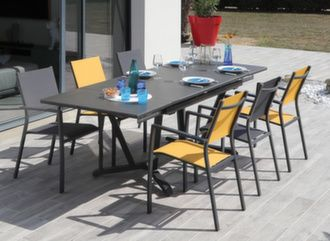 Table Vita Kedra® 150/200/250 cm + 6 fauteuils Games