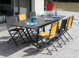 Table Vita Kedra® 150/200/250 cm + 6 chaises Ida