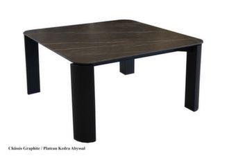 Table basse Eole II 80 x 80 cm, plateau Kedra®