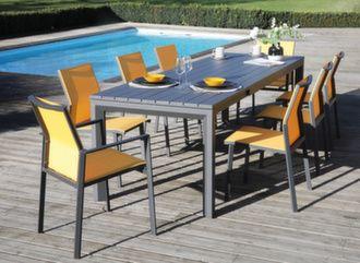 Table Elena II 190/260 cm + 6 assises Delia