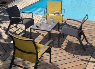 Ensemble détente Linéa (4 fauteuils + table basse)