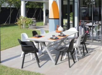Table Moresco Kedra® 220 x 100 cm + 6 assises Jato