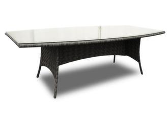 Table Léa 240 cm, plateau verre
