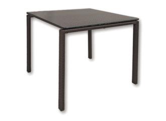 Table haute Azur 100 cm, plateau verre