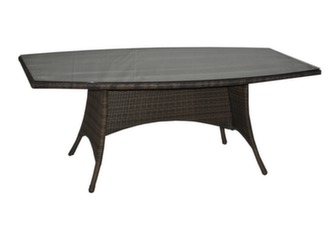Table Lotus 180 cm, plateau verre
