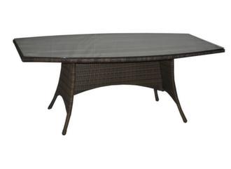 Table Lotus 180 cm, plateau verre