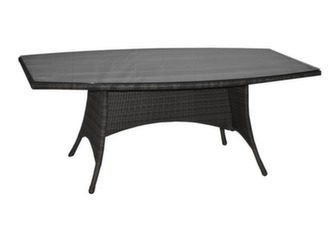 Table Lotus 220 cm, plateau verre