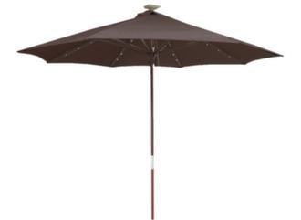 Parasol droit Ø 270 cm, avec Leds