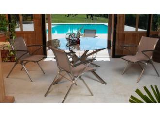 Table ronde Riviera 152 cm, plateau verre
