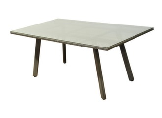 Table Tinos 180 cm, plateau verre