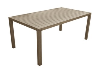 Table Milano 180 x 100 cm, finition brush