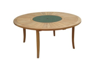 Table Bréhat Teck Ø 155 cm