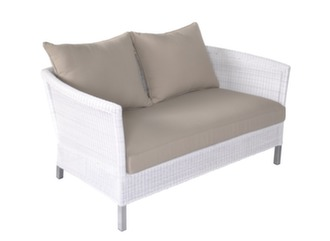 Canapé Sofa Thyme 2P White Taupe