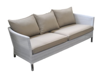 Canapé Sofa Thyme 3P White Taupe
