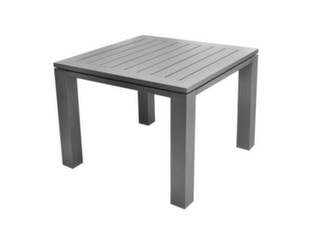 Table Latino carrée 78 cm + 4 chaises Antibes